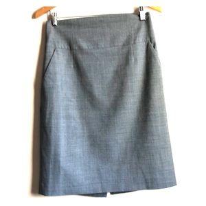 Banana republic high waisted skirt light grey 10T